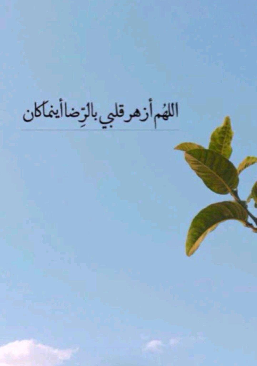 اللهم أزهر قلبي بالرضا أينما كان Arabic Words Allah Inner Peace