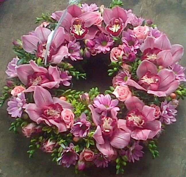 Orchid Wreath Wreaths Cymbidium Orchids Orchids