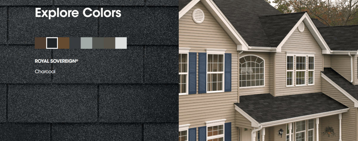 Colors For Royal Sovereign Shingles Architectural Shingles Roofing Shingling