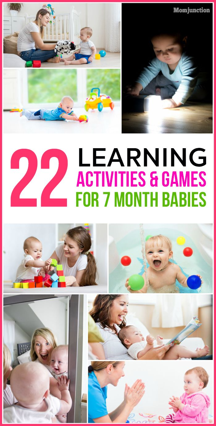 22 Learning Activities And Games For 7 Month Old Baby Infant