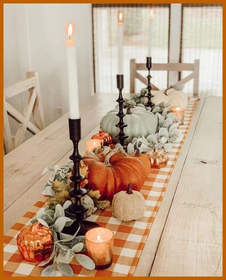 ✔50 Charming Fall Table Decor That Are Perfect for All of Your Autumn Dinner #…