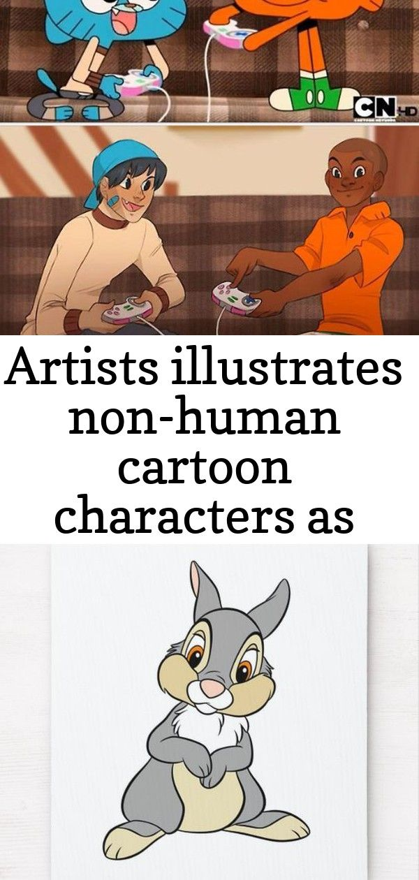 Artists illustrates nonhuman cartoon characters as humans and the results are perfect 25 Artists Illustrates NonHuman Cartoon Characters As Humans And The Results Are Per...
