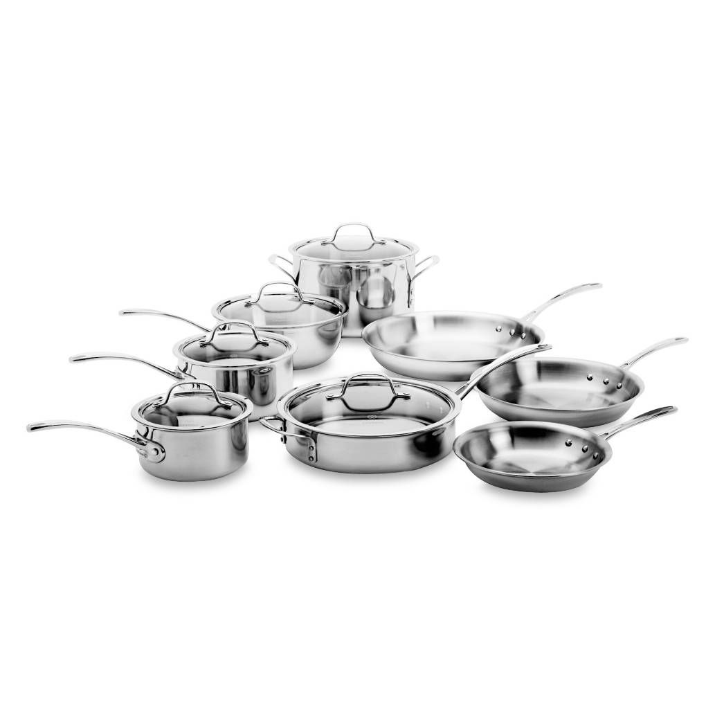 Product Image for Calphalon® Tri-Ply Stainless Steel 13-Piece Cookware Set 1 out of 4
