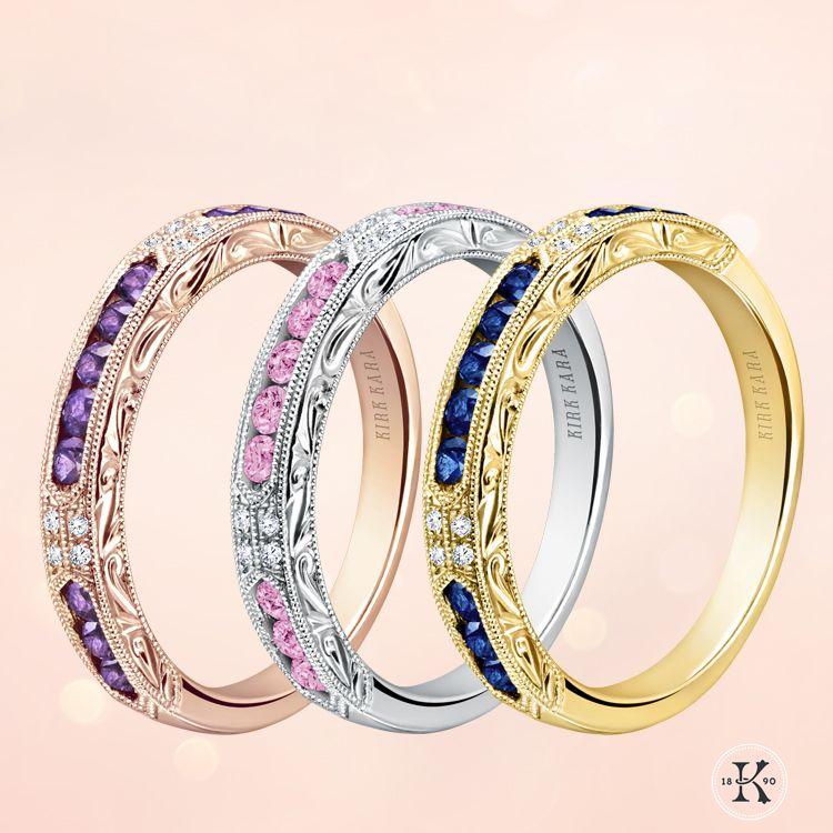 Kirk Kara Blue Sapphire Diamond Amethyst Pink Sapphire Wedding