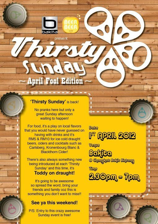 Let's get thirsty this Sunday! Thirsty Sunday is BACK!