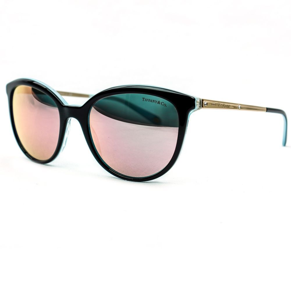 f8af0c53d4c4 Tiffany   Co. 1837 Black Cat Eye Sunglasses with Pink Mirrored Lenses  TF4117-B  TiffanyCo  Round