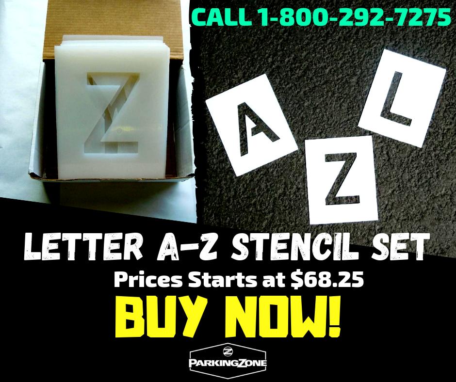 Letter AZ Stencil Set Letter stencils, Lettering, Large