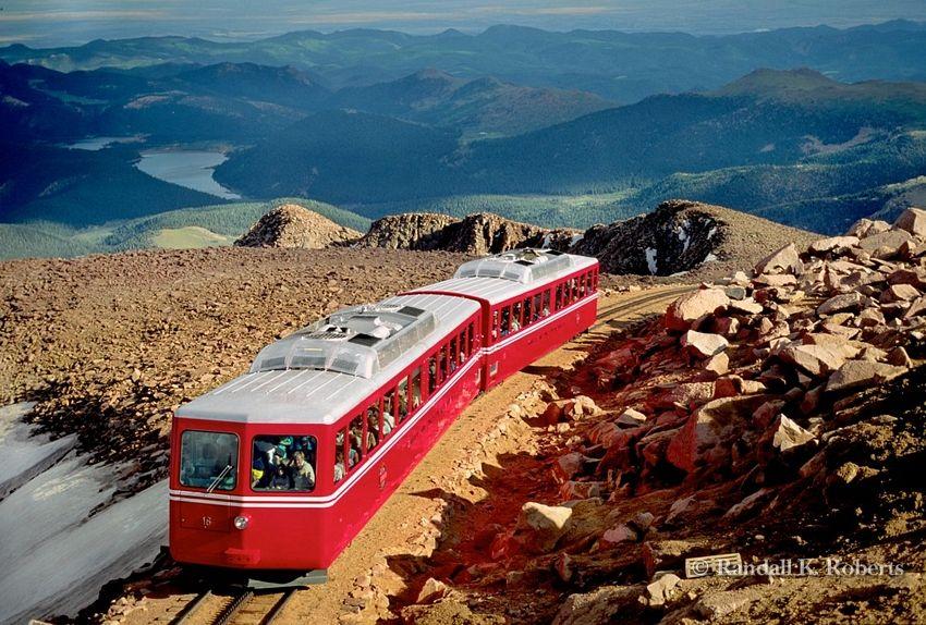 Cog Railway up to Pikes Peak - Manitou Springs, Colorado #manitousprings