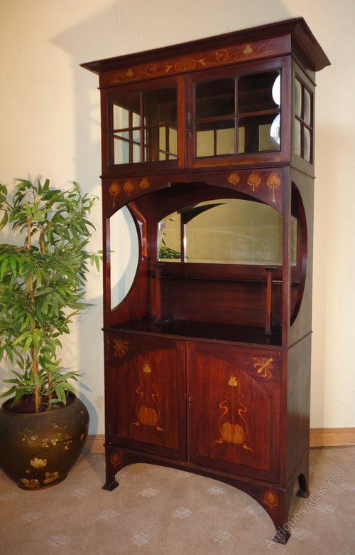 Art nouveau display cabinet shapland petter antiques atlas