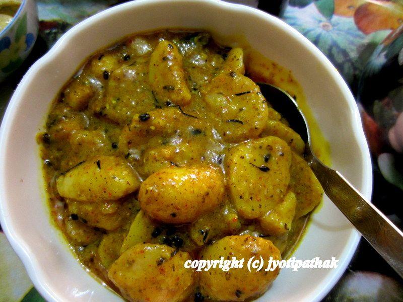 taste of nepal: aloo ko achaar - potato salad is a popular