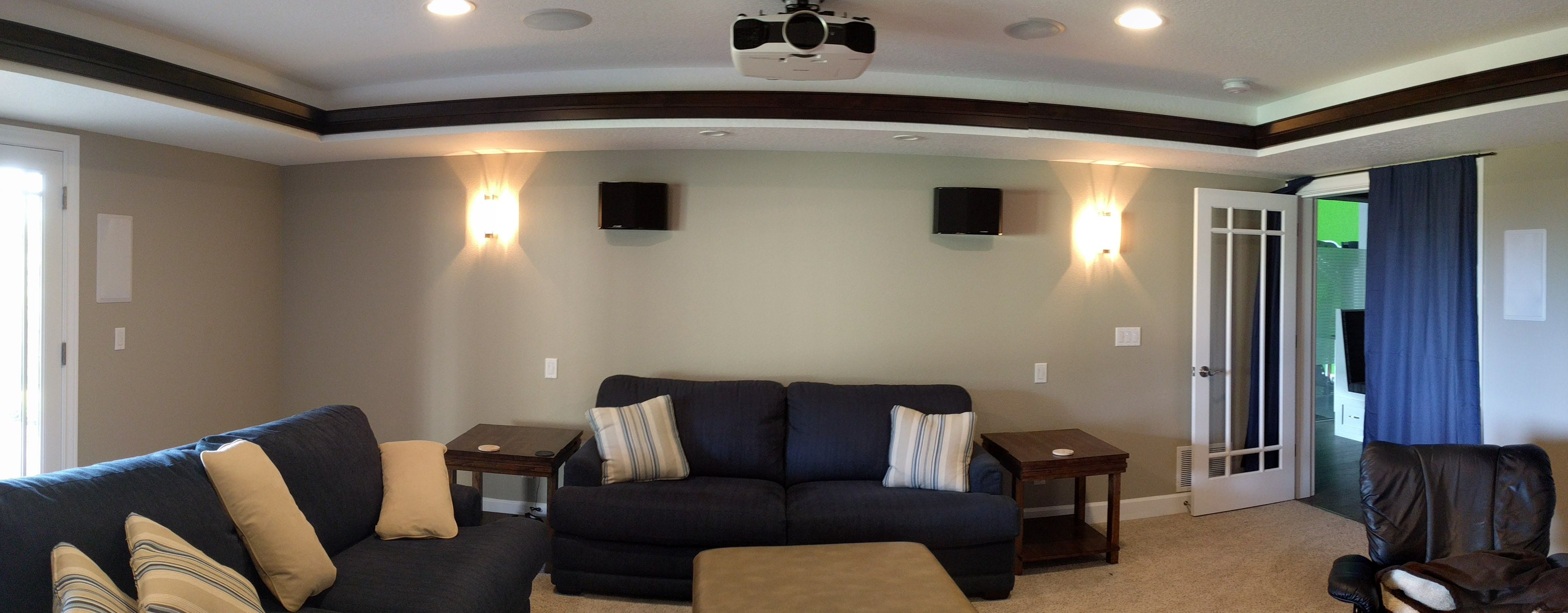 Design And Construction Of A Daylight Basement Home Theater Room