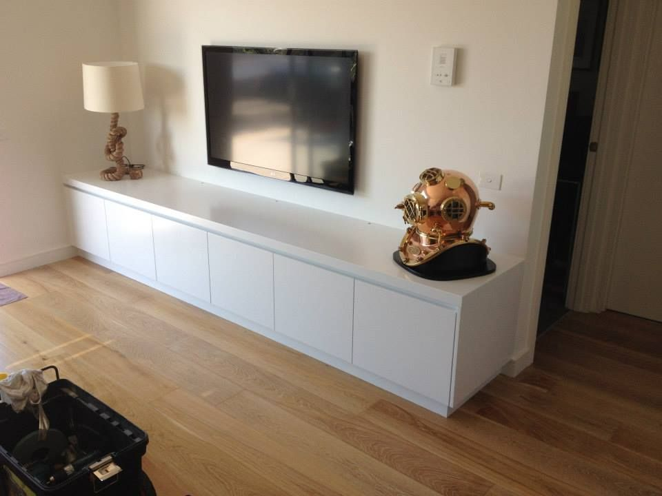 Freestanding 3m Long Entertainment Unit.