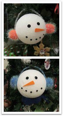 Make a snowman that doesn't melt using a styrofoam ball and read