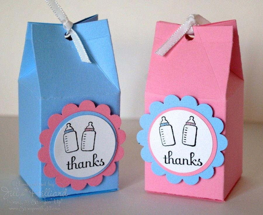 Caja De U201clecheu201d Como Souvenirs De Baby Shower | Manualidades Para Baby  Shower