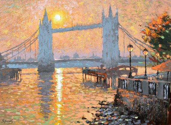 London S Landscape Oil Painting By Dmitry Spiros 50 X By Spirosart Cuadro Acuarela Arte Abstracto Paisajes