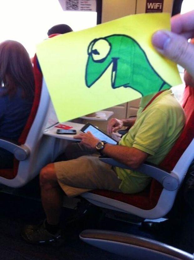 Langeweile Im Zug