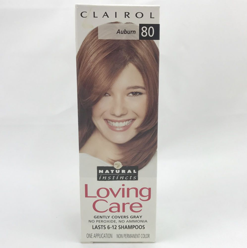 Clairol Loving Care Natural Instincts 80 Auburn Hair Color New Old