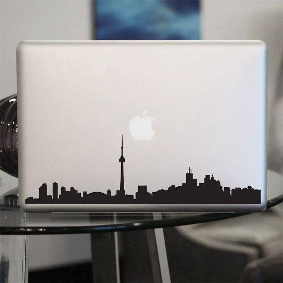 Toronto Skyline Laptop Sticker Vinyl Decal Canada Vinyl