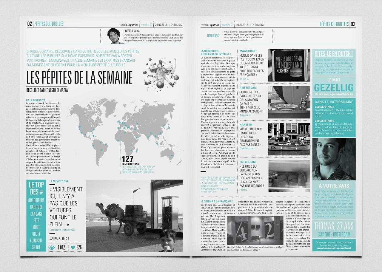 print journal magazine newspaper bichromy edition