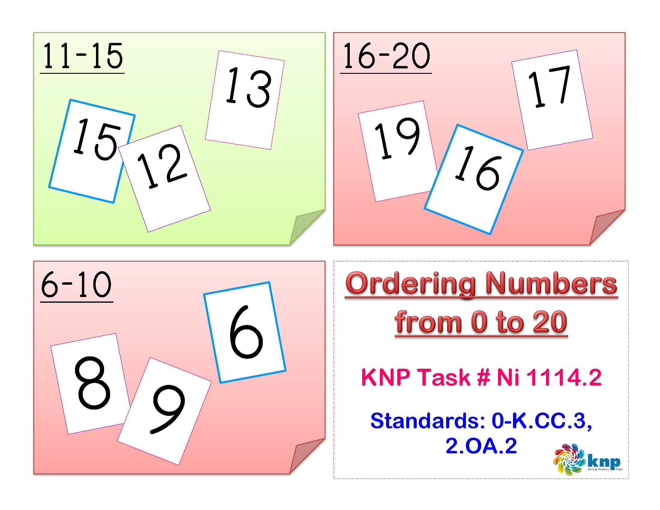 Ordering Numbers From 0 To 20