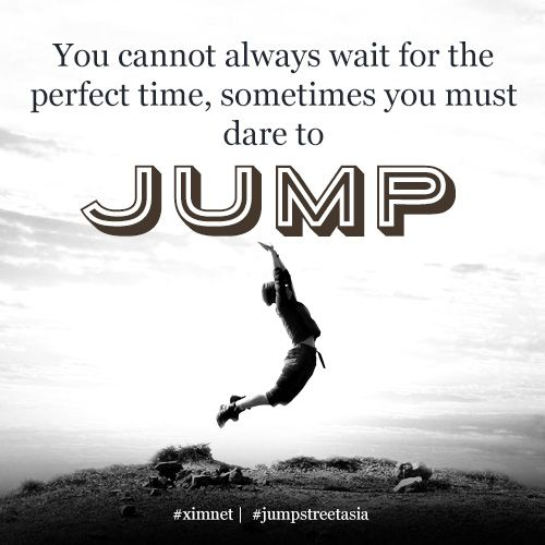 Inspirational Quotes About Joy: Take A Leap Of Faith #typography #quote #inspiration #jump
