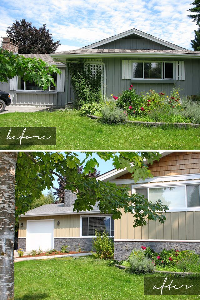 Before & After: Lomond. Renovation and addition designed by Potts Design and contracting by BDV Contracting.