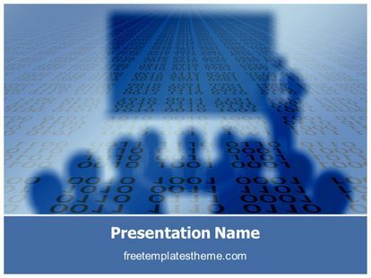 Download #free #Binary #Education #PowerPoint #Template for your