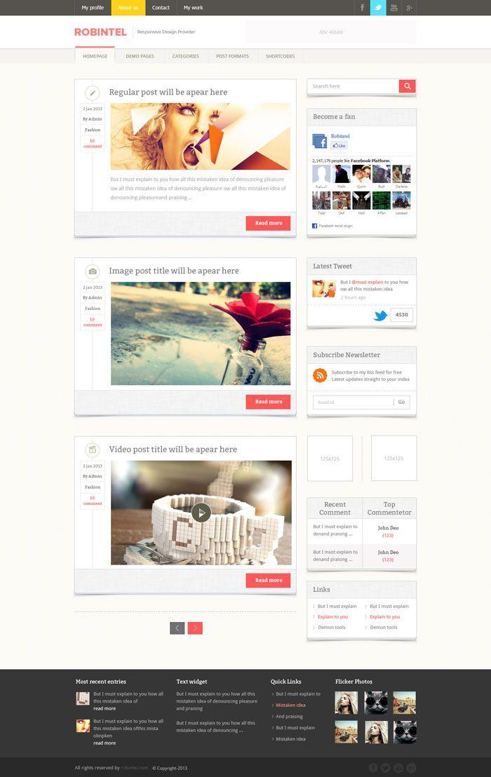Modern Design Blog modern website layout designs for inspiration | website for
