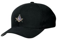 MASONIC MASON FAITH HOPE CHARITY EMBROIDERED BLACK HAT CAP
