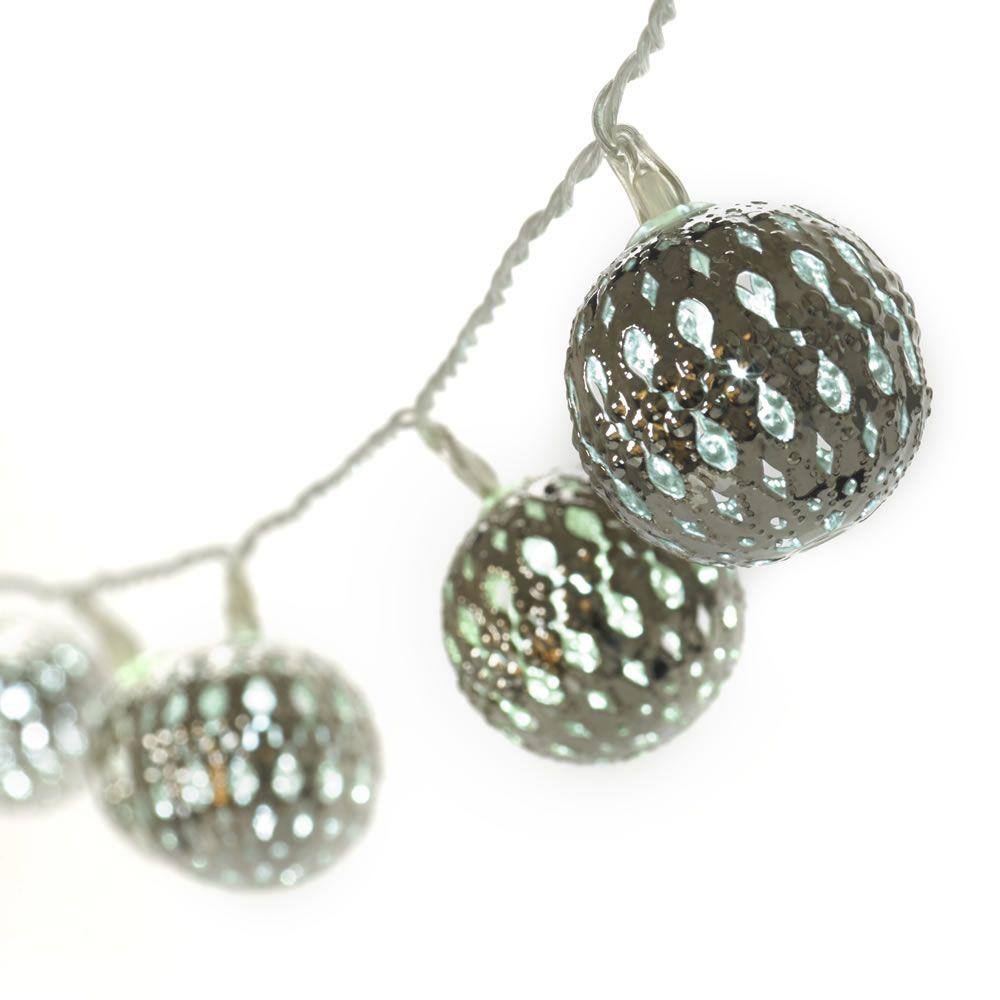 Outdoor Solar Lights Wilko: Wilko Get Creative Ball String Lights Silver Effect LED