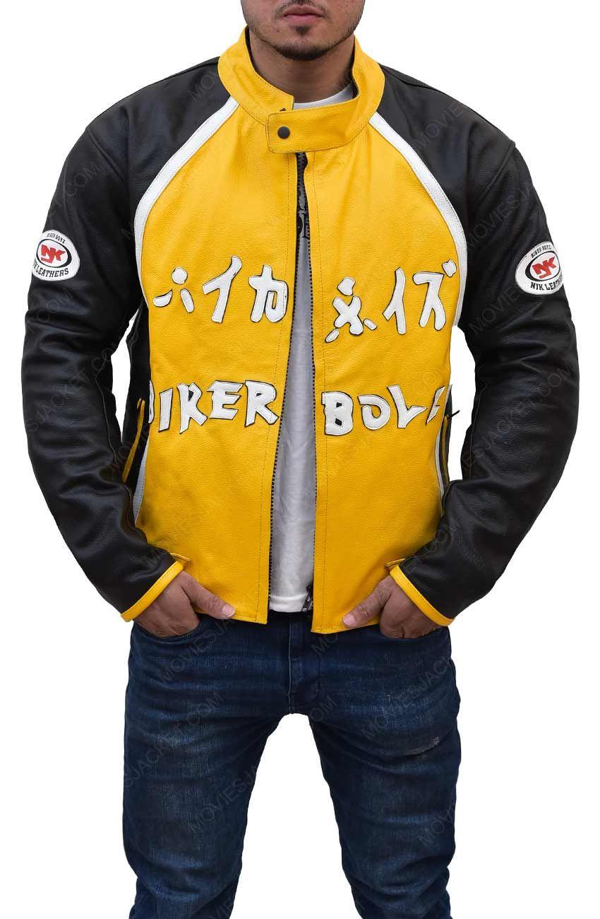 Black And Yellow Biker Boyz Jacket Leather Jacket Men Varsity Jacket Men Womens Biker Jacket [ 1300 x 850 Pixel ]