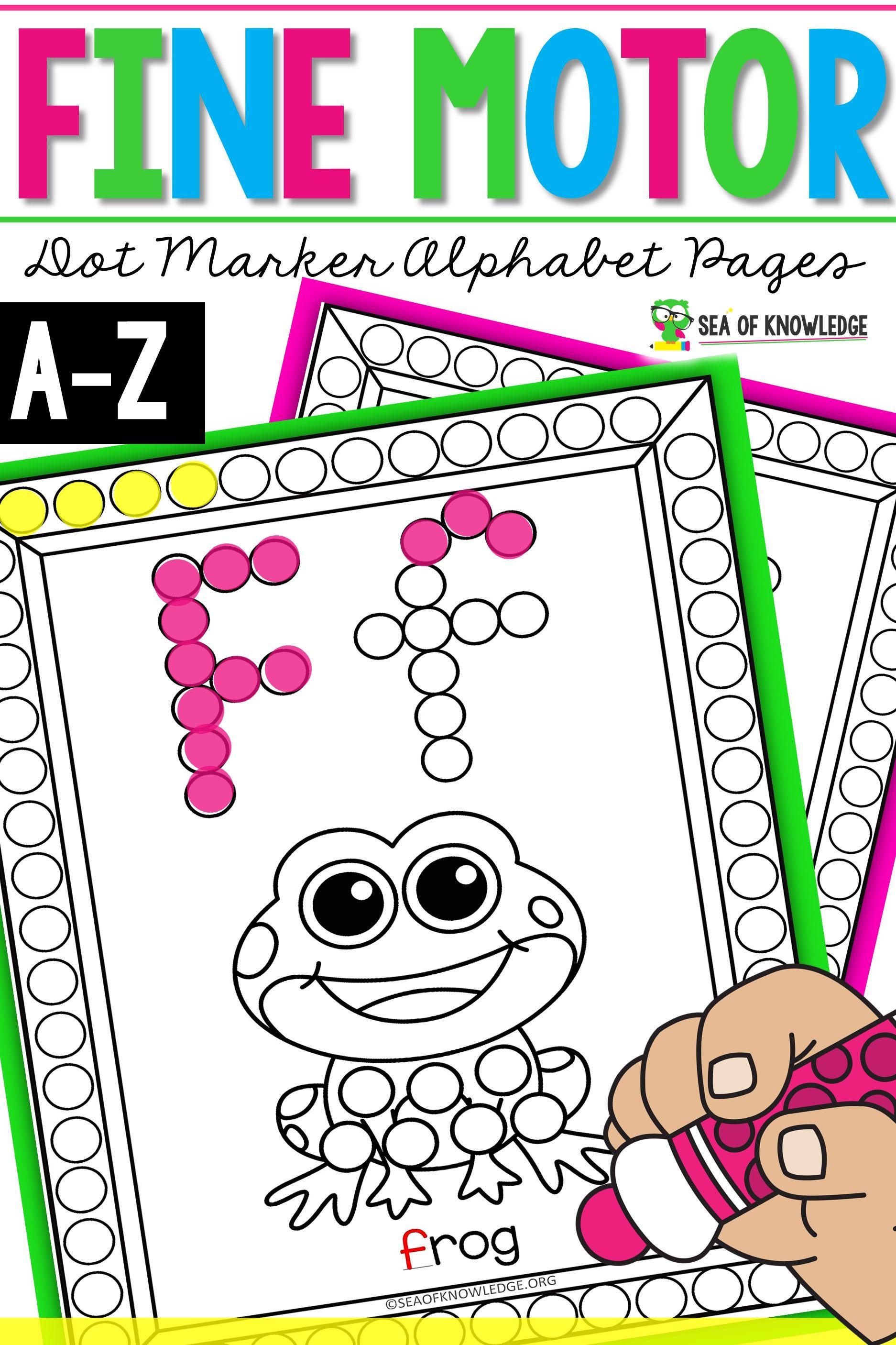 Alphabet Dot Marker Worksheets Printable Booklet In