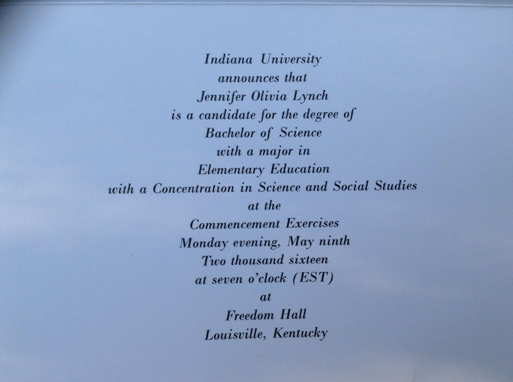 My graduation announcements