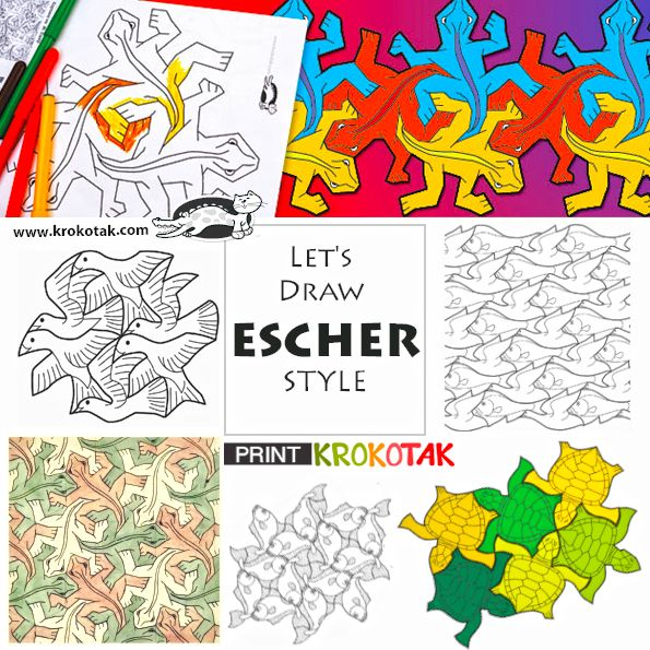 simple tessellation patterns for kids - Google Search | tessellation ...