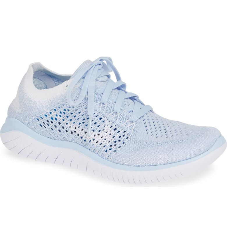 Free Rn Flyknit 2018 Running Shoe Main Color Hydrogen Blue White White Womens Running Shoes Shoes Running Shoes
