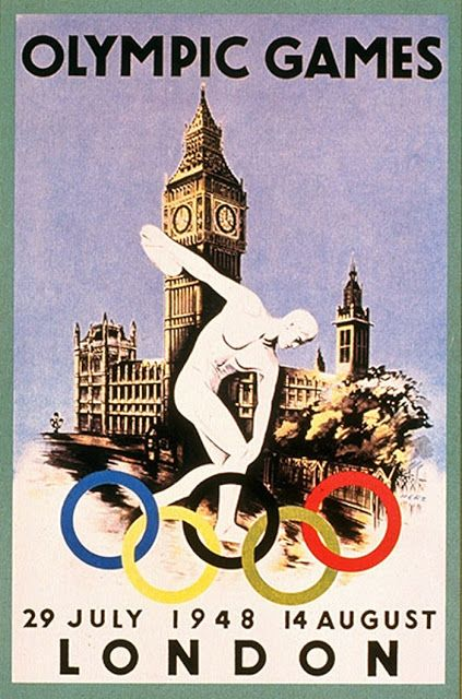 Vintage Poster Print 1932 LA Olympic Games 4 sizes, matte+glossy avail