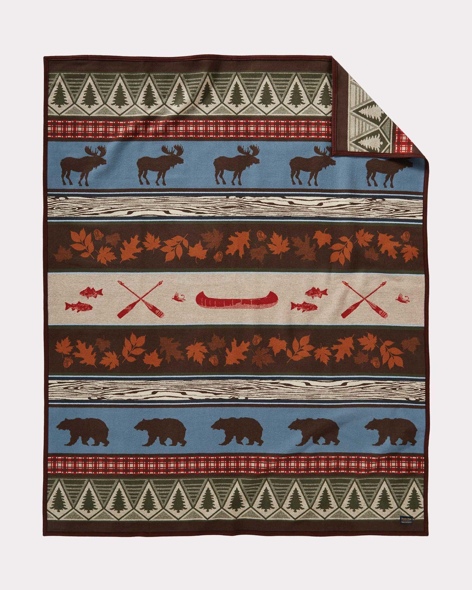 PINE LODGE BLANKET Pendleton Blanket, Wool throw blanket