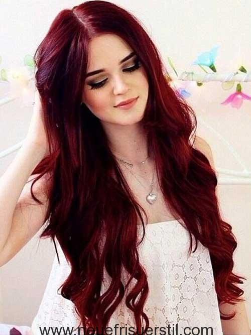 sehr lange dunkel rote haare lange frisur pinterest dunkel
