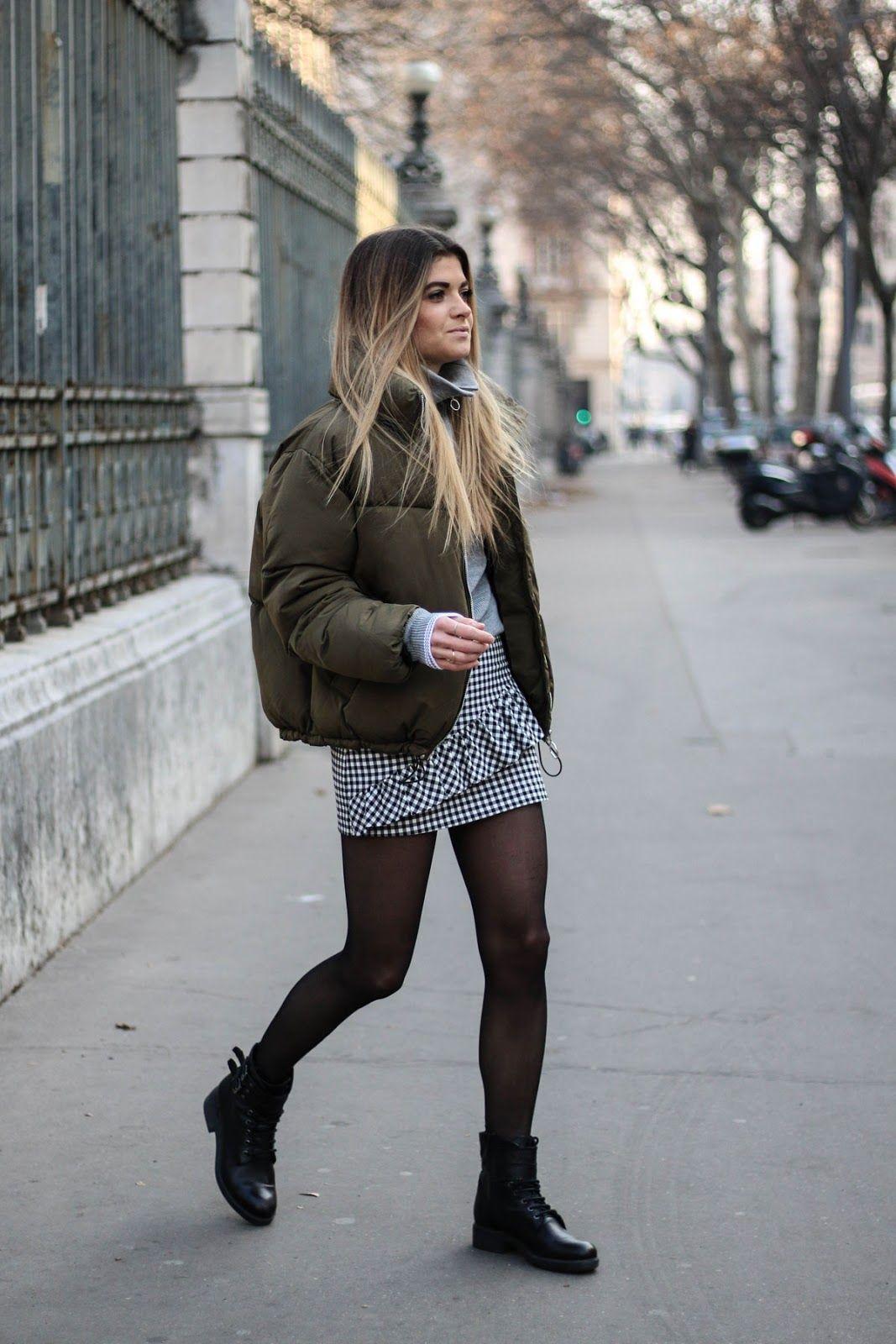 Bien connu Tendance carreaux vichy - Streetstyle - Big doudoune - Outfit  VC53