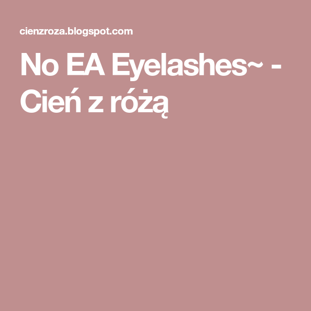 no ea lashes