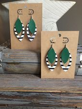 Photo of Perfect Party– #145  Leather Earrings in Lees Summit    This image has get 0 re…