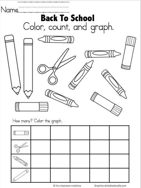 Back To School Graph Freebie - Graph and Count to 5 | Count, School ...