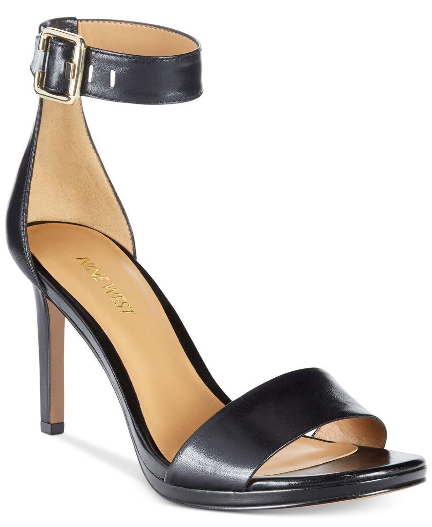 Nine West Meantobe Two-Piece Ankle Strap Sandals - Pumps - Shoes - Macy's