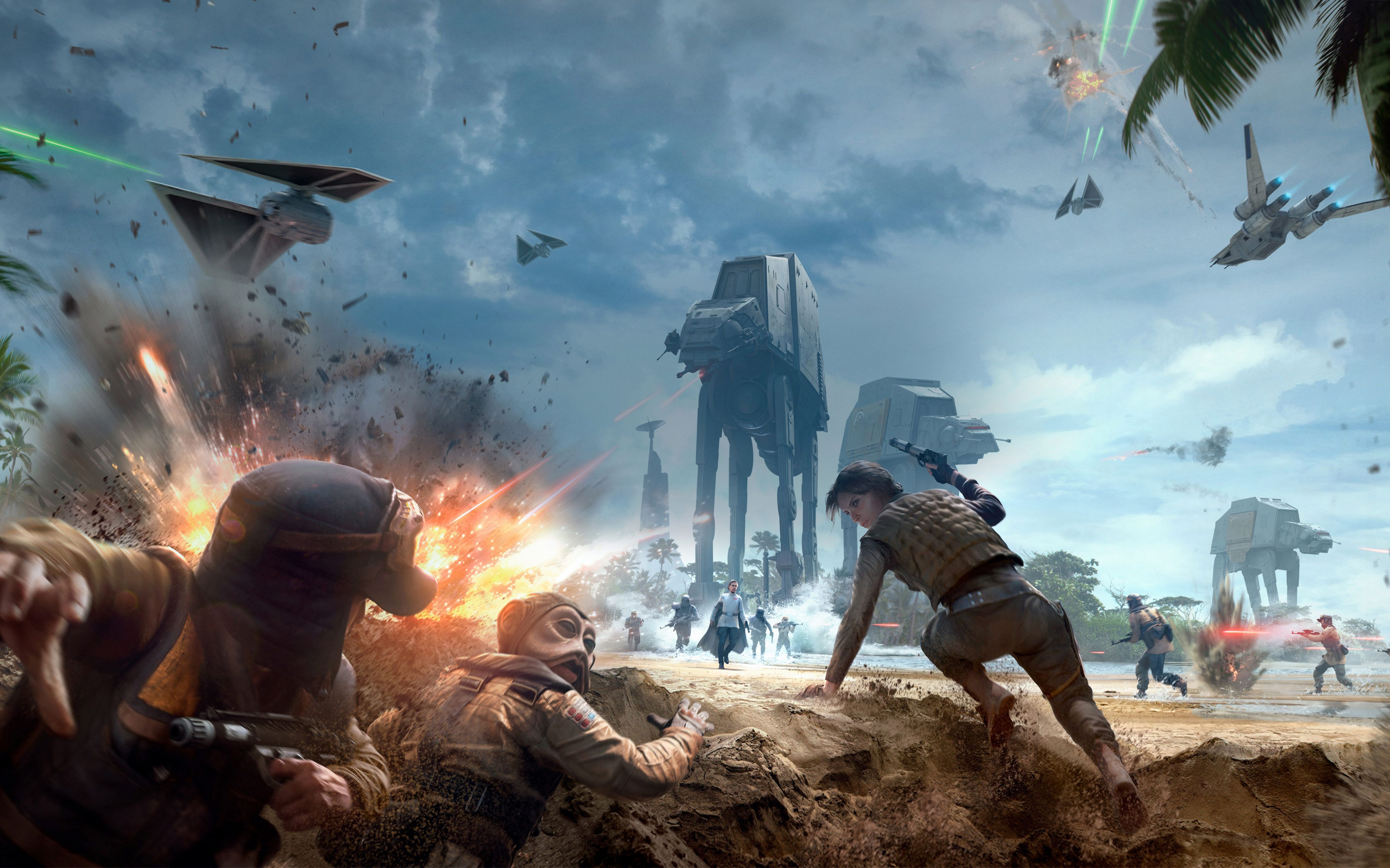 Star Wars Battlefront Rogue One Scarif 4k Star Wars Battlefront Star Wars Video Games Star Wars