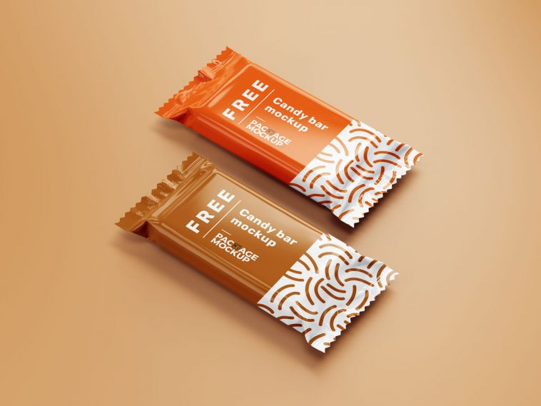 Choco Candy Bar Packaging Cover Mockup 4 Psd Set Free Package Mockups Chocolate Packaging Candy Bar Chocolate Bar Brands