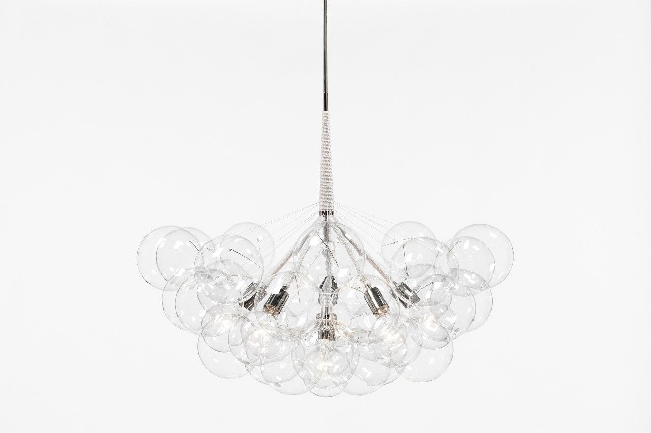 Jumbo 36 bubble chandelier by pelle let there be light pinterest jumbo 36 bubble chandelier by pelle arubaitofo Image collections