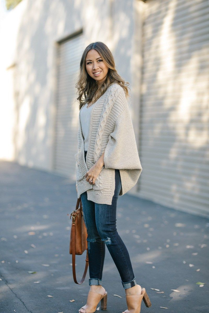 lace and locks, petite fashion blogger, fall poncho, fall ...