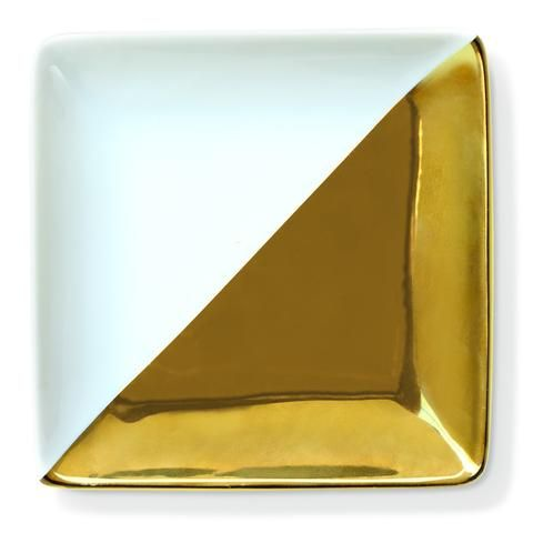 Gold Dipped Square Trinket Tray - Waiting On Martha