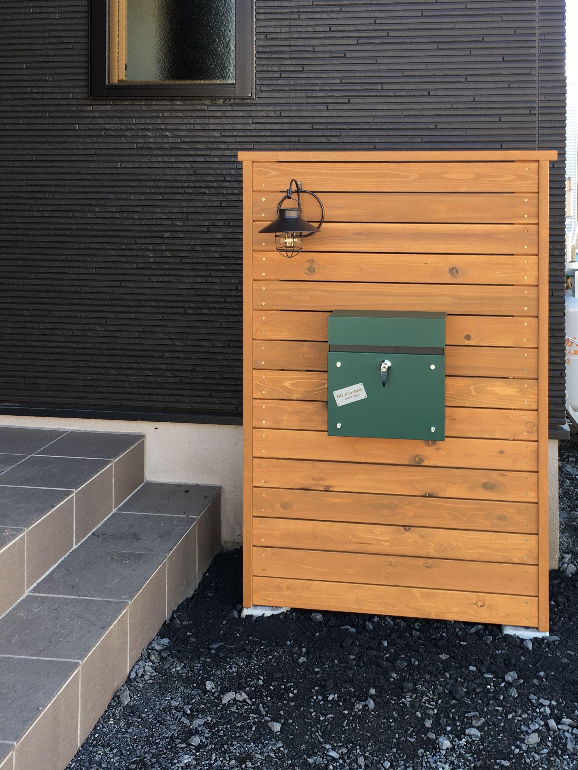 材料代1万円の費用で門柱をdiyで制作する デザイン案 製作図作成