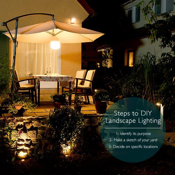 Perfect 3 Steps To #DIY #Landscape #Lighting From Philips Photo